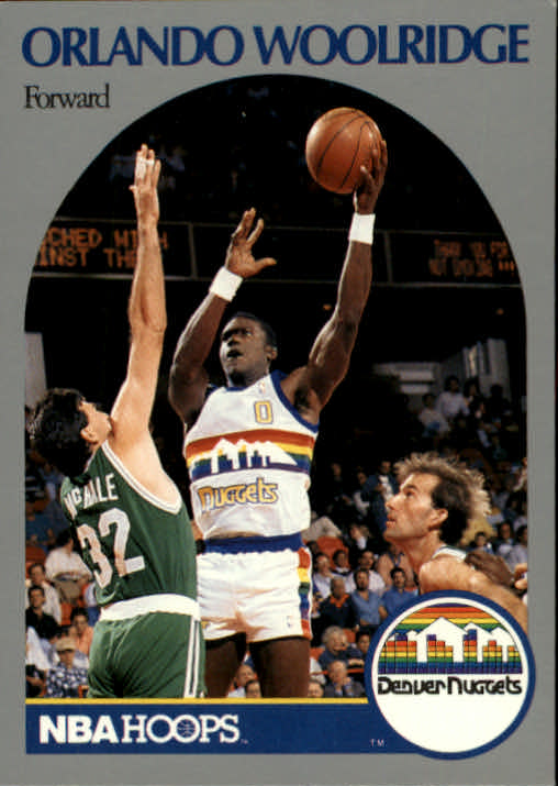 1990-91 Hoops #411 Orlando Woolridge U