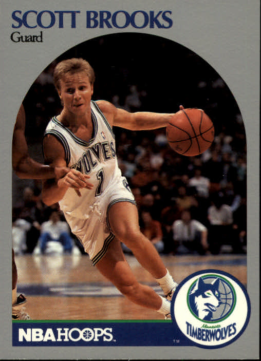 1990-91 Hoops #419 Scott Brooks U
