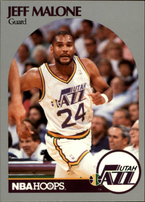 1990-91 Hoops #437 Jeff Malone U