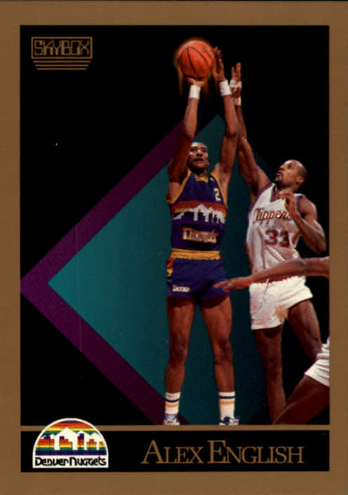 1990-91 SkyBox #74 Alex English SP