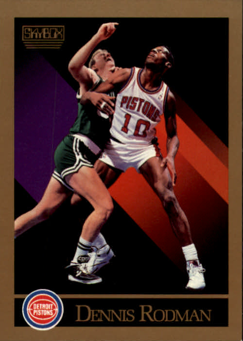 1990-91 SkyBox #91 Dennis Rodman/(SkyBox logo in upper right or left)