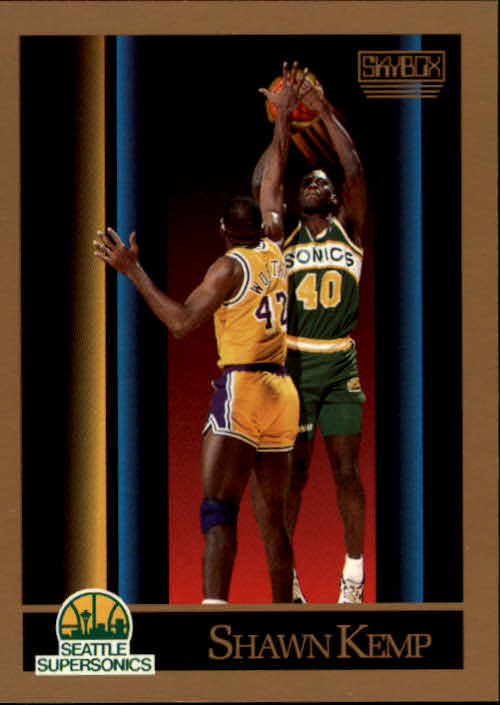 1990-91 SkyBox #268 Shawn Kemp RC