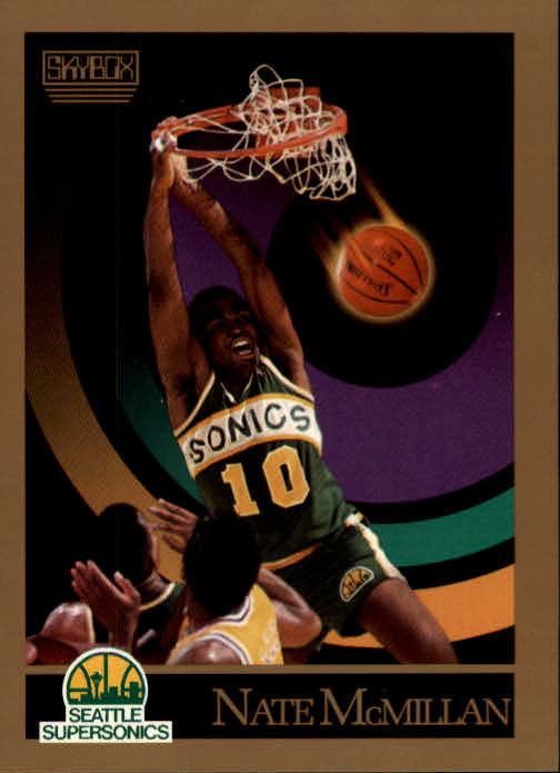 1990-91 SkyBox #271A Nate McMillan SP ERR/(Back photo actually/Olden Polynice; first series)