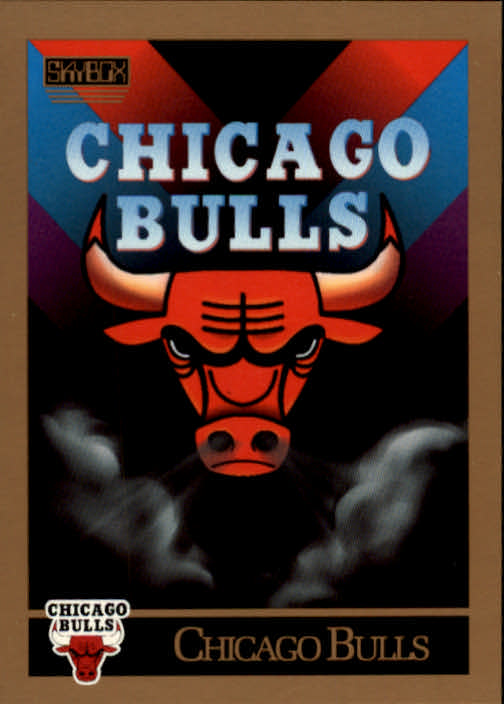1990-91 SkyBox #331 Chicago Bulls TC