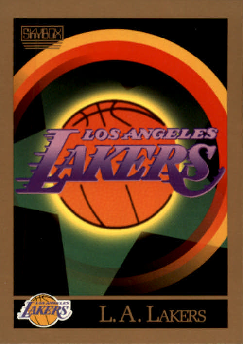 1990-91 SkyBox #340 Los Angeles Lakers TC