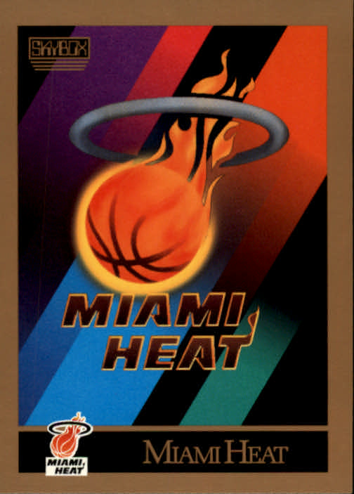1990-91 SkyBox #341 Miami Heat TC
