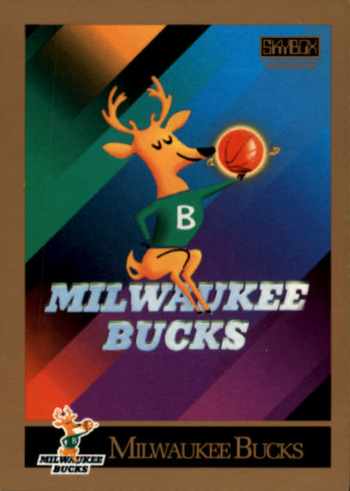 1990-91 SkyBox #342 Milwaukee Bucks TC