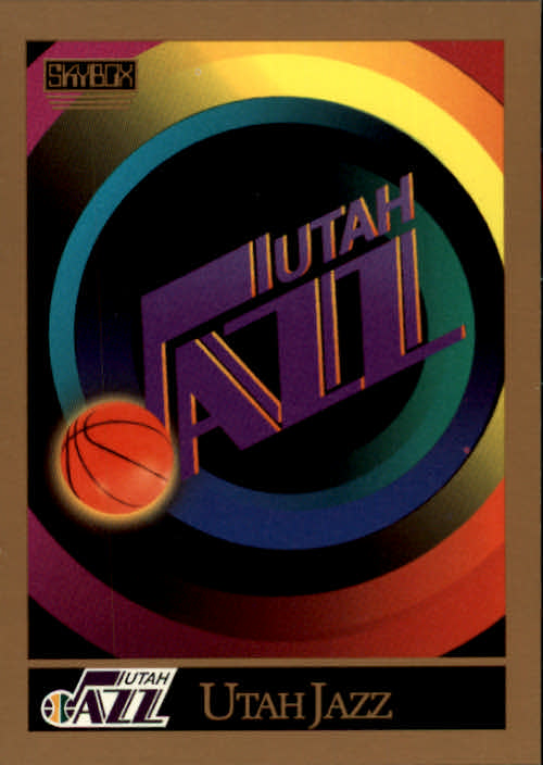1990-91 SkyBox #353 Utah Jazz TC