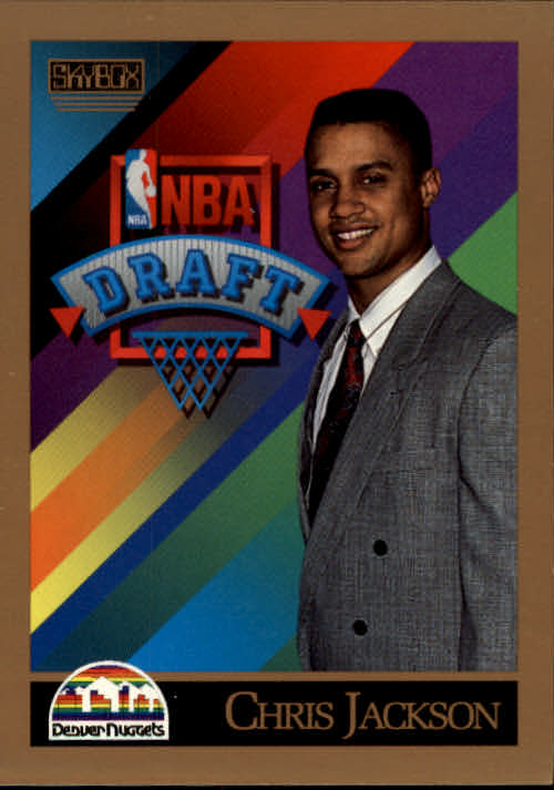 1990-91 SkyBox #357 Chris Jackson RC