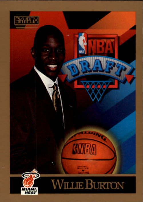 1990-91 SkyBox #360 Willie Burton RC
