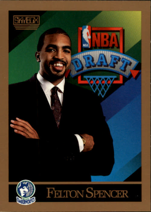 1990-91 SkyBox #361 Felton Spencer RC