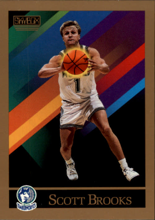 1990-91 SkyBox #396 Scott Brooks