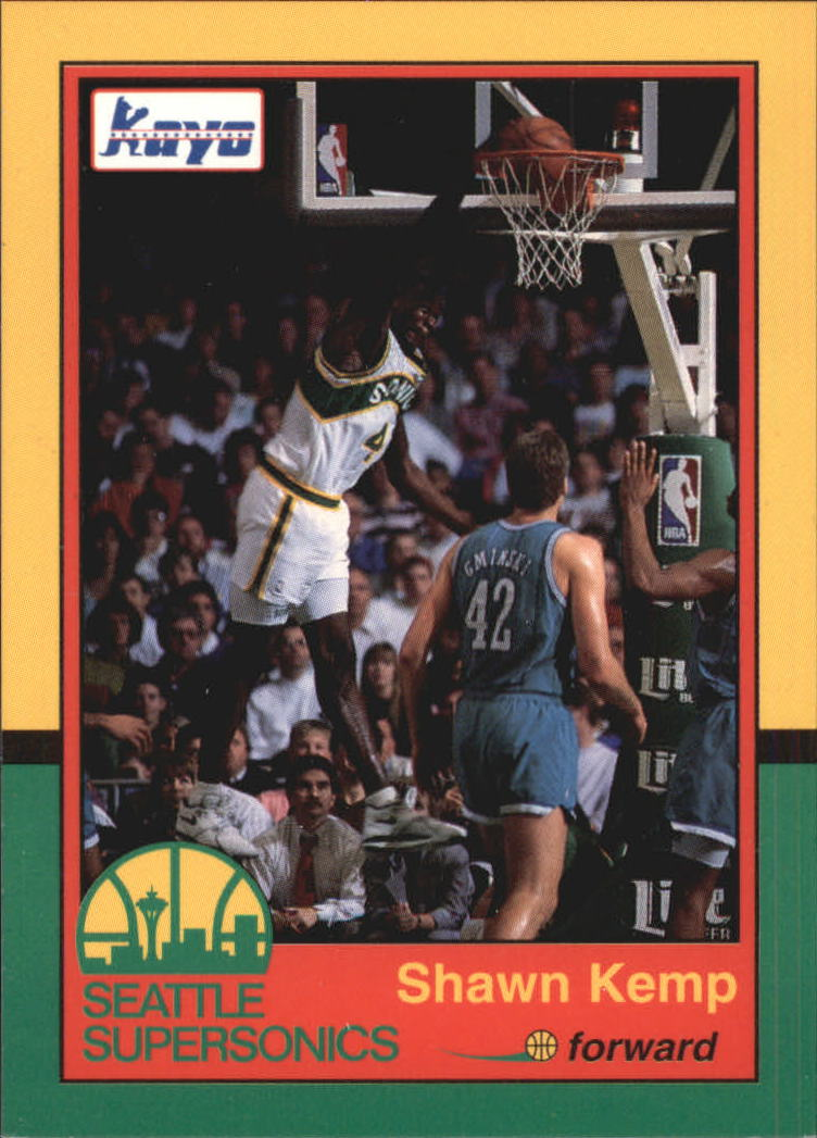 1990-91 Supersonics Kayo #1 Shawn Kemp