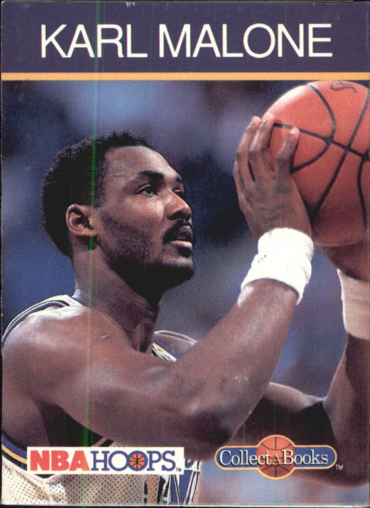 1990-91 Hoops CollectABooks #5 Karl Malone