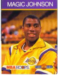 1990-91 Hoops CollectABooks #29 Magic Johnson