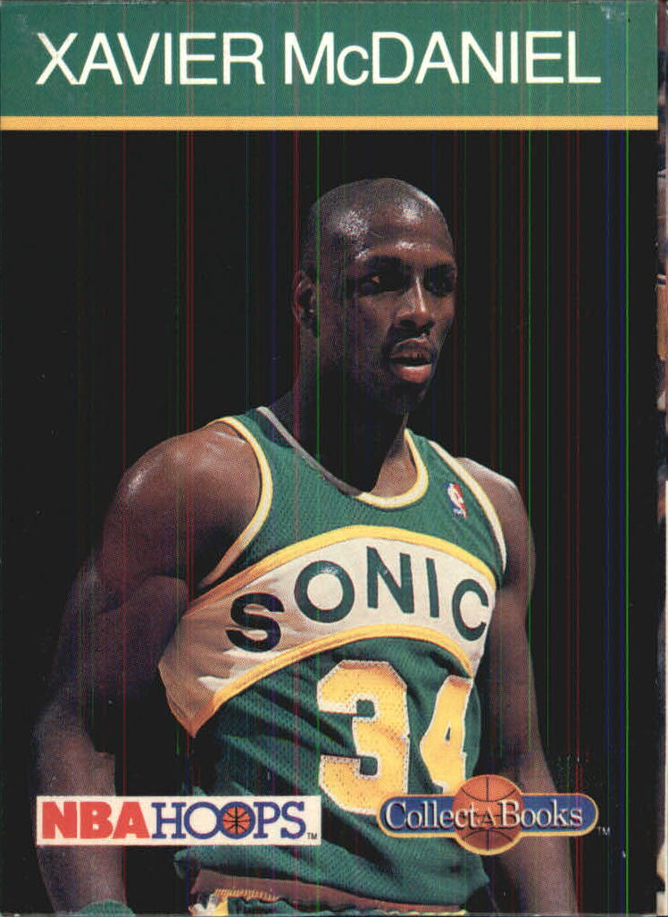 1990-91 Hoops CollectABooks #42 Xavier McDaniel