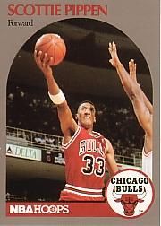 1991 Hoops 100 Superstars #14 Scottie Pippen