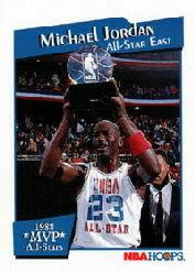 1991-92 Hoops All-Star MVP's #9 Michael Jordan