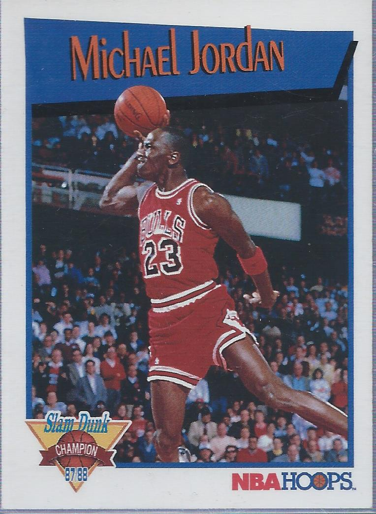 1991-92 Hoops Slam Dunk #4 Michael Jordan