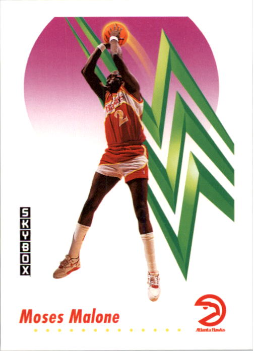 1991-92 SkyBox #4 Moses Malone