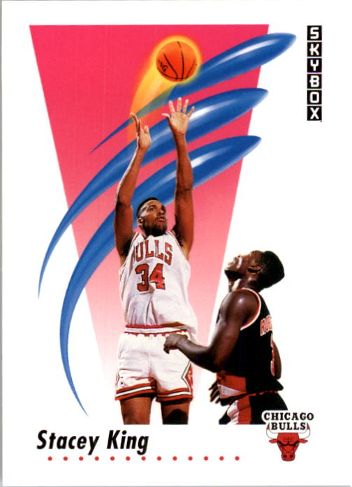 1991-92 SkyBox #40 Stacey King