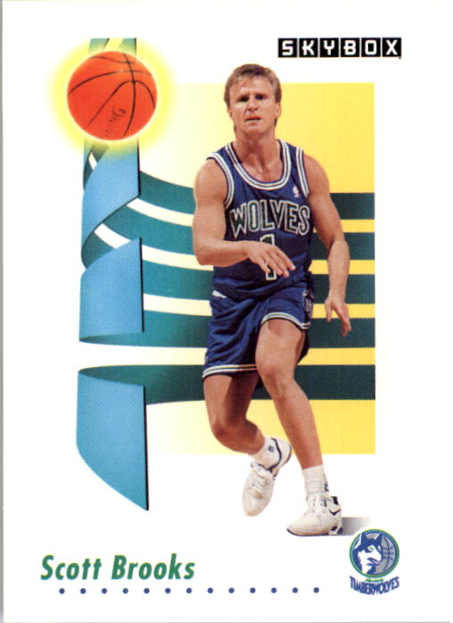 1991-92 SkyBox #167 Scott Brooks
