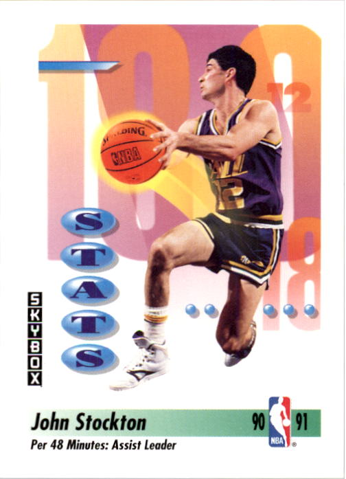 1991-92 SkyBox #306 John Stockton Assists
