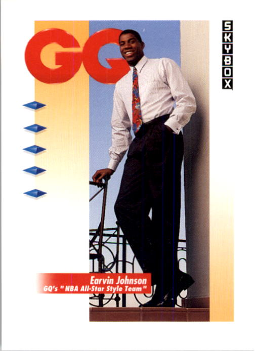1991-92 SkyBox #323 Magic Johnson GQ