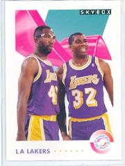 1991-92 SkyBox #471 M.Johnson/J.Worthy TW front image