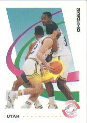 1991-92 SkyBox #484 K.Malone/J.Stockton TW