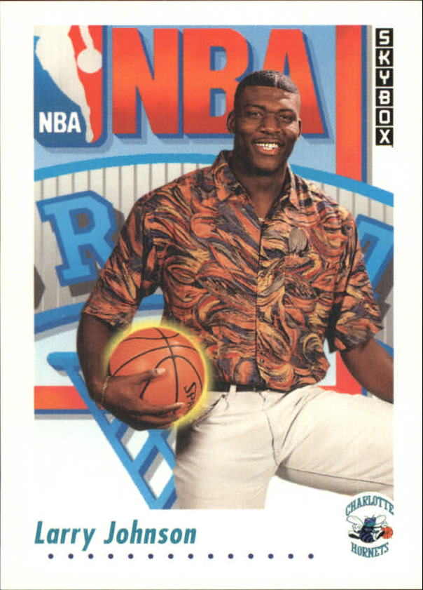 1991-92 SkyBox #513 Larry Johnson RC
