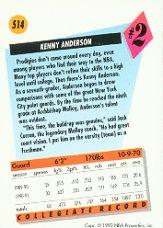1991-92 SkyBox #514 Kenny Anderson RC