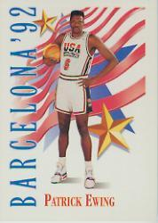 1991-92 SkyBox #532 Patrick Ewing USA