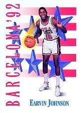 1991-92 SkyBox #533 Magic Johnson USA