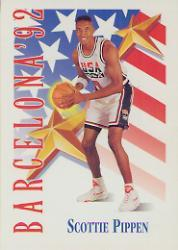 1991-92 SkyBox #537 Scottie Pippen USA