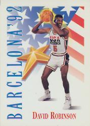 1991-92 SkyBox #538 David Robinson USA