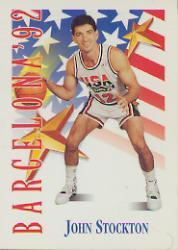 1991-92 SkyBox #539 John Stockton USA