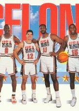 1991-92 SkyBox #545 Team USA 2 front image
