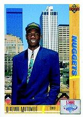 1991-92 Upper Deck #3 Dikembe Mutombo RC