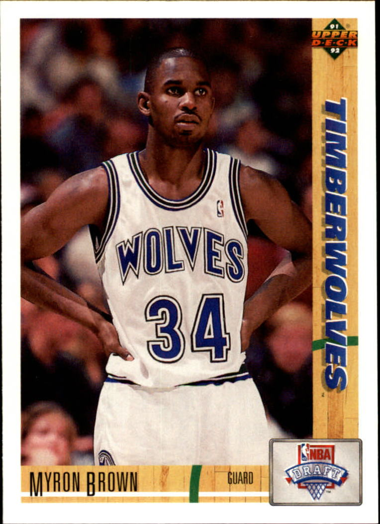 1991-92 Upper Deck #15 Myron Brown RC