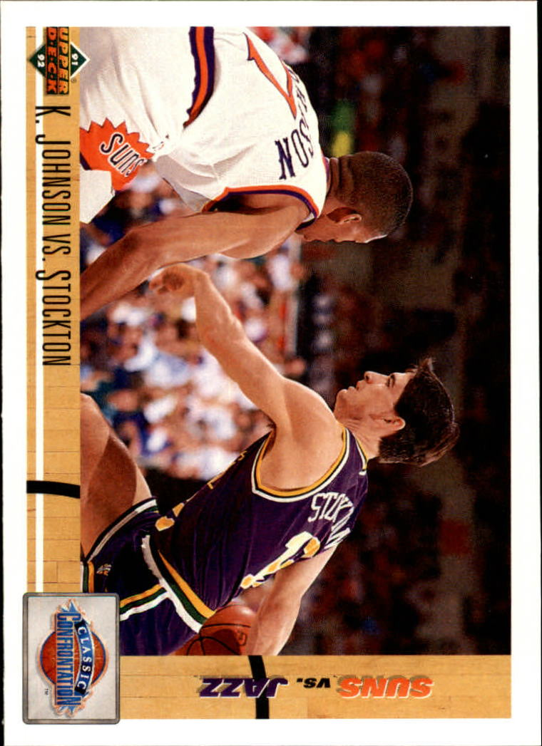 1991-92 Upper Deck #32 K.Johnson/Stockton CC