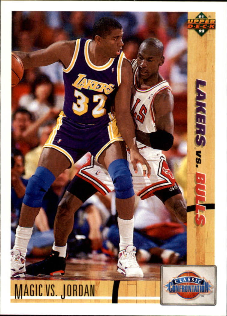 1991-92 Upper Deck #34 M.Johnson/M.Jordan CC front image