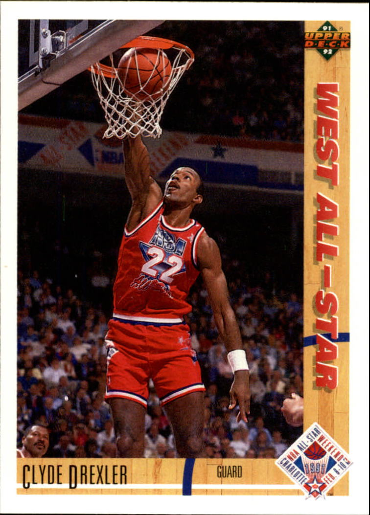 1991-92 Upper Deck #53 Clyde Drexler AS