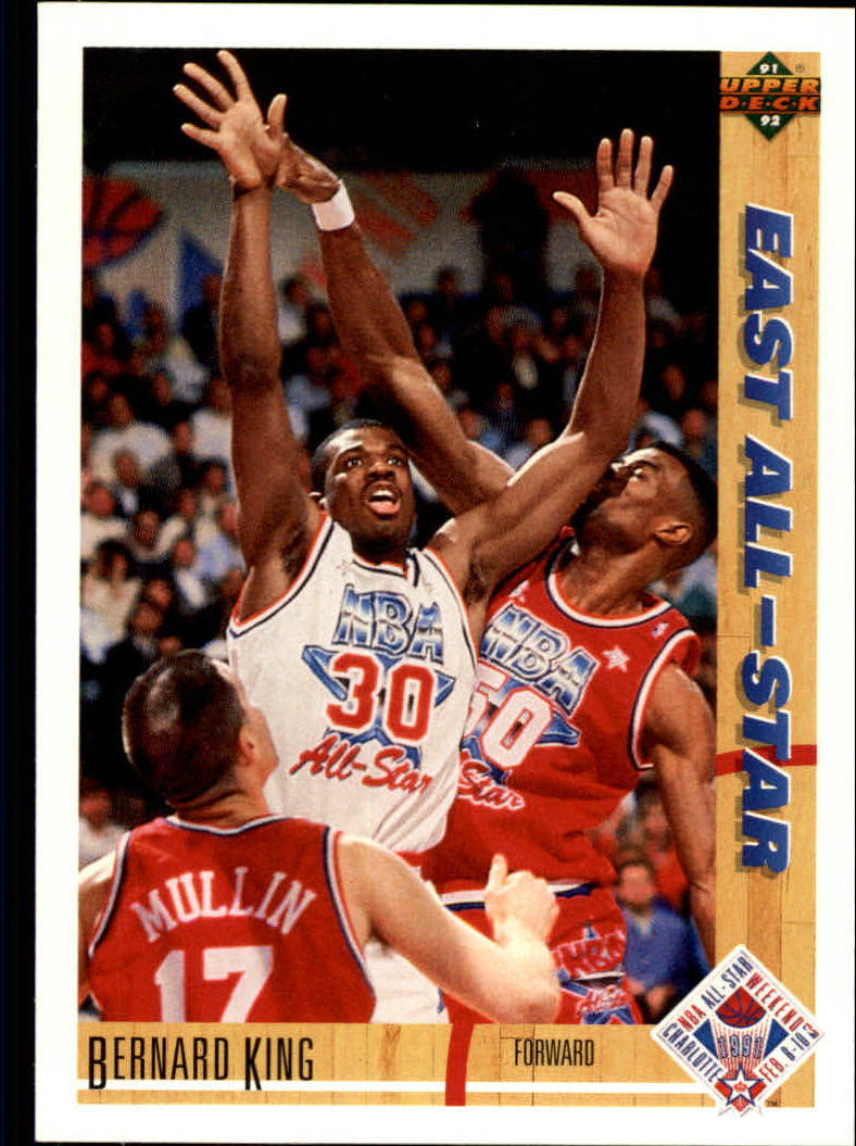 1991-92 Upper Deck #65 Bernard King AS