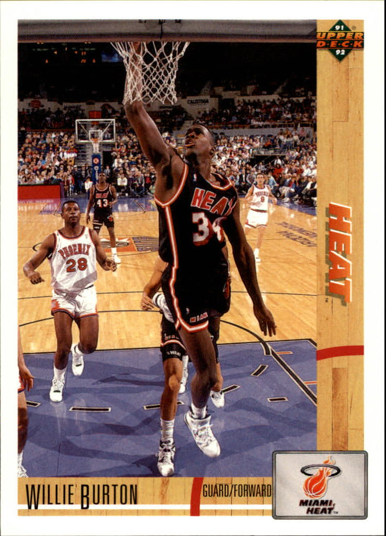 1991-92 Upper Deck #168 Willie Burton