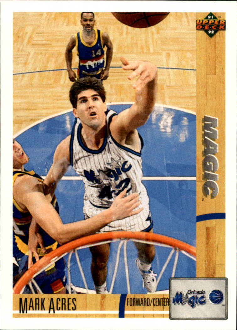 1991-92 Upper Deck #201 Mark Acres