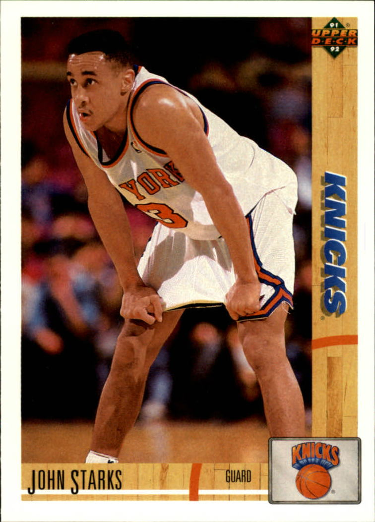 1991-92 Upper Deck #219 John Starks RC