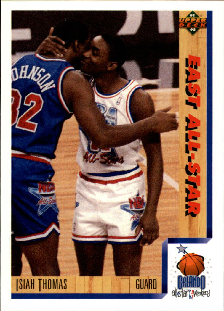 1991-92 Upper Deck #451 Isiah Thomas AS/(Magic Johnson also shown)