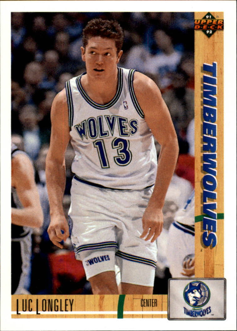 1991-92 Upper Deck #491 Luc Longley RC