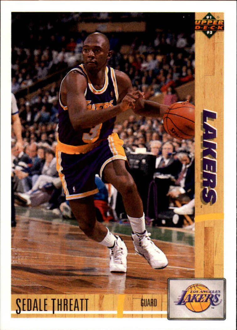 1991-92 Upper Deck #492 Sedale Threatt